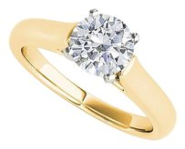 LoveBrightJewelry Perfect Solitaire CZ Ring in 18K Yellow Gold Vermeil
