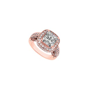 LoveBrightJewelry Precious Diamond Engagement Ring in 14K Rose Gold
