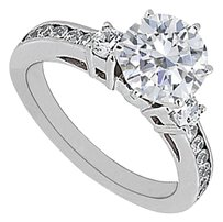 LoveBrightJewelry Pretty Gift Cubic Zirconia Ring in 925 Sterling Silver