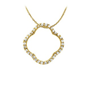 LoveBrightJewelry Priceless Diamond Pendant in 14K Yellow Gold Exclusively Designed