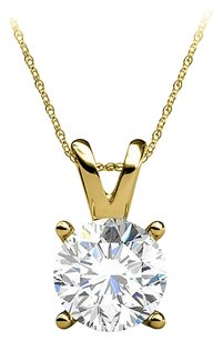 LoveBrightJewelry Prong Set Diamond in 14K Yellow Gold Pendant For Her