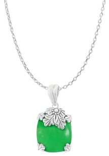 LoveBrightJewelry Purely Artistic Prong Set Cushion Chrysoprase Pendant