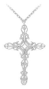 LoveBrightJewelry Religious Cross Pendant in 925 Sterling Silver