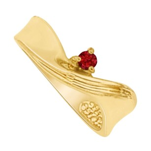 LoveBrightJewelry Ruby Mother Twisted Shank Ring in 14K Yellow Gold