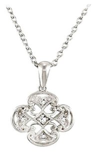 LoveBrightJewelry Sterling Silver 0.03 CT TW Diamond 18 Inch Necklace