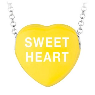 LoveBrightJewelry Sweet Heart Yellow Heart Pendant Necklace Valentine Day Sweethearts Collection