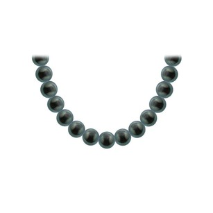 LoveBrightJewelry Tahitian Pearl Necklace 18K White Gold 12.00 14.00 MM