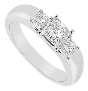 LoveBrightJewelry Three Stone Cubic Zirconia Ring Sterling Silver 0.25 CT CZs
