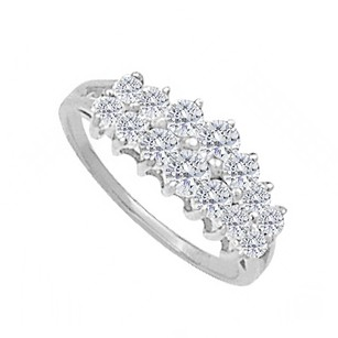 LoveBrightJewelry Total Weight Ring In 925 Sterling Silver With Cz