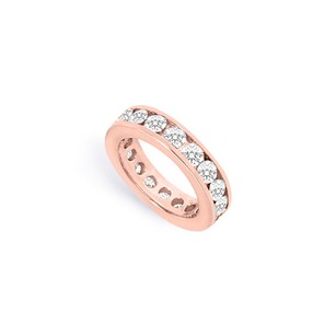 LoveBrightJewelry Two And Half Carat Cubic Zirconia Eternity Band In 14k Rose Gold Second And Third Anniversary Je