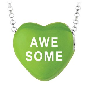 LoveBrightJewelry Valentine Day Special Awesome Green Heart Pendant Necklace From Sweethearts Collection