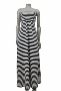 Gray Maxi Dress by Lovers + Friends White Striped Strapless Cutout Maxi