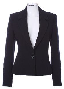 Luca Luca Wool Silk Princess Seam Black Blazer