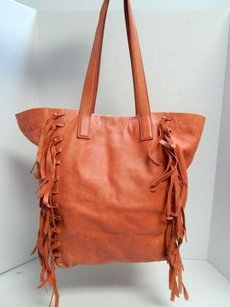 Lucky Brand Lucky Leather Fringe Tote in Red