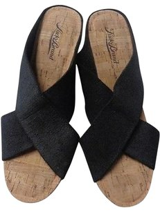 Lucky Brand Wedge Black And Tan Platforms