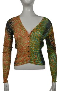 Lucky Brand Lucky Womens Printed Cardigan Long Sleeve Shirt Sweater