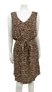 Lucky Brand short dress brown multi Jeans Sleeveless on Tradesy