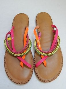 Lucky Brand 7m Multi Patent Leather Multi-Color Sandals