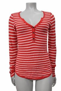 Lucky Brand Live In Love Red White Sweater