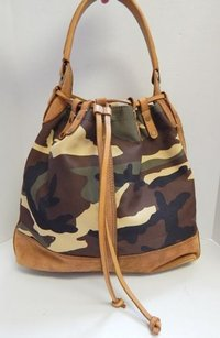 Lucky Brand Camouflage Canvas Hobo Bag