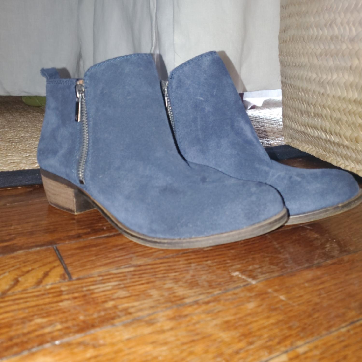 Lucky Brand Navy Blue Suede Boots