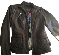 Lucky chocolate brown leather jacket Brown Leather Jacket