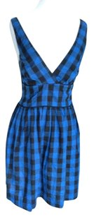 Lucy Love short dress Blue & Black on Tradesy