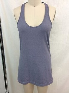 Lululemon Lululemon Athletica Purple White Striped Racer Back Tank Top