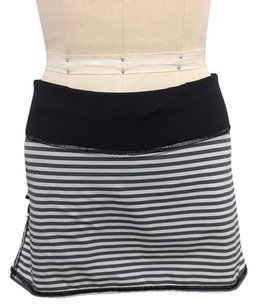 Lululemon Lululemon Athletica Black White Striped Pacesetter Skirt Shorts