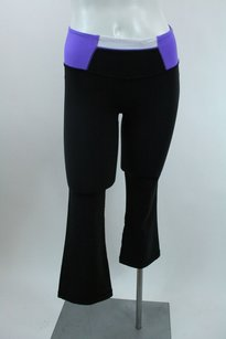 Lululemon Lululemon Hip To Be Zen Crop Capri Black Purple Flare Pants