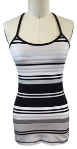 Lululemon Lululemon Athletica Black Tan White Striped Bra Tank