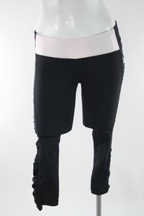 Lululemon Lululemon Pink Black Run In The Sun Crop Legging