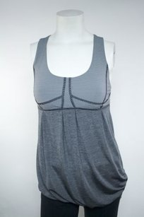 Lululemon Lululemon Tank Yoga Dance Fitness Grey Black White Striped Drawstring Top
