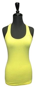 Lululemon Lululemon Yellow Sleeveless Racerback Stretch Athletic Tank Top 142