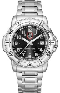 Luminox luminox GGL.L7252 black face stainless steel band new