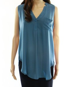 Lush 100-polyester Cami Color-blue Top