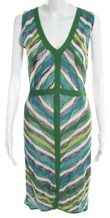 M Missoni short dress Green Multi Colored on Tradesy