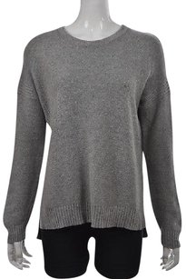 Madewell Womens Gray Crewneck Speckled Long Sleeve Cotton Sweater