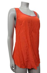 Maeve Piped Silk By Anthropologie Sleeveless Top Orange