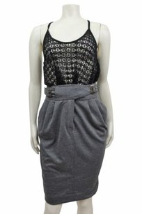 Maeve Ponte Cinched Pencil By Anthropologie Crisp Pleats Skirt Gray