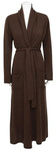 Magaschoni Cashmere Extended Cashmere Waist Tie Robe Duster Sweater