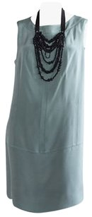 Magaschoni short dress Green 100 Silk Sleeveless Shift Bead Detail Hs1562 on Tradesy