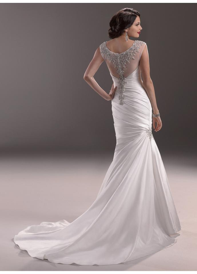Maggie Sottero Diamond White Renior Satin Landyn Vintage Wedding ...