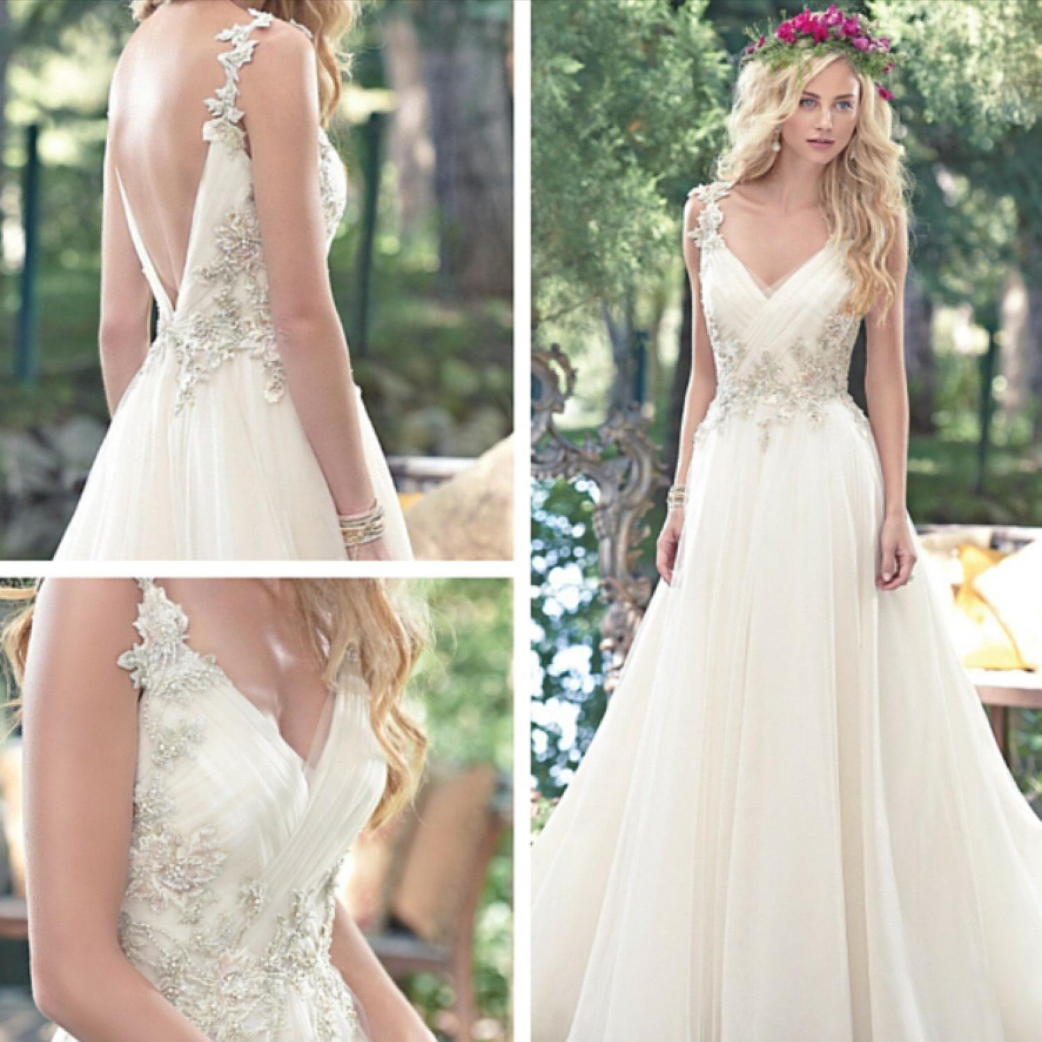 Maggie Sottero Ivory With Gold And Blush Accents Shelby