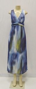 Blue/green/white Maxi Dress by Maggy London Bluemulti Ombre