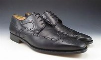 Magnanni Mens Shoes Wingtip Leather Oxfords Made In Spain 12673 Black