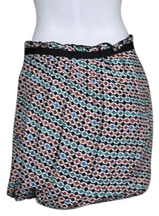 Maje Womens Printed Pencil 408 Above Knee Party Skirt White