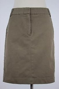 Mango Mng Womens Solid Skirt Brown