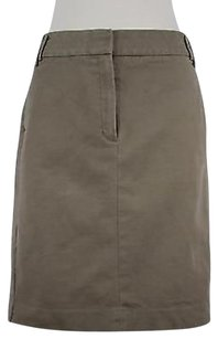 Mango Mng Womens Solid Above Knee Blend Straight Skirt Brown