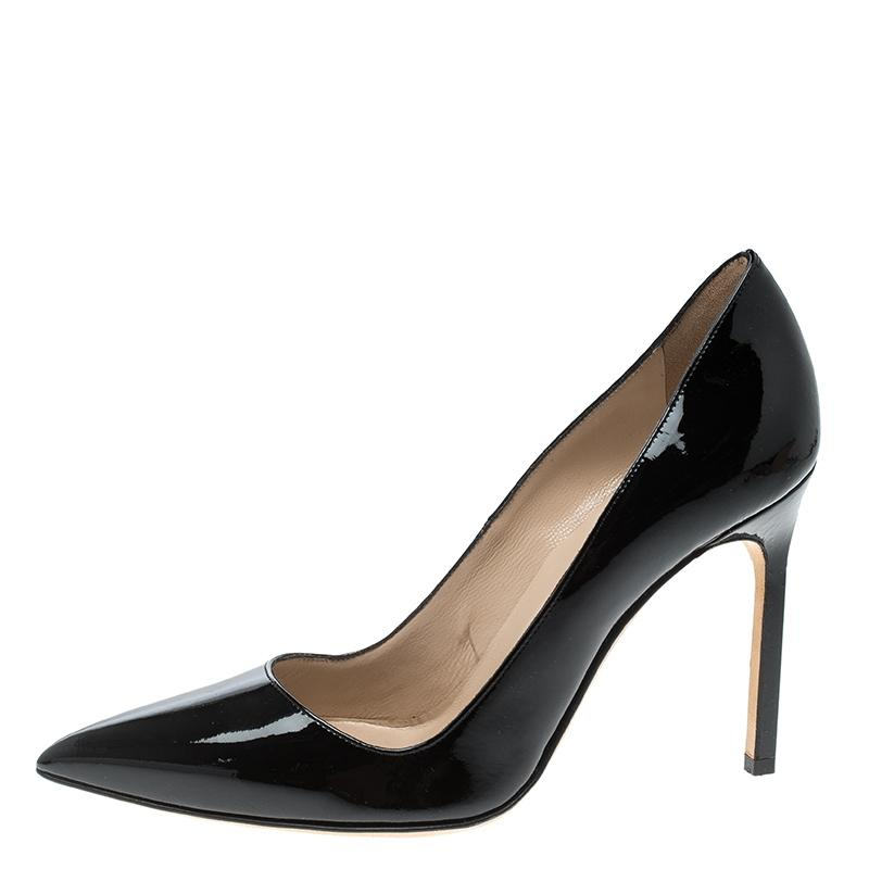 3469d1b1d6d Manolo Blahnik Black Patent Leather Bb Pointed Pointed Pointed Pumps Size EU  36 (Approx. US 6) Regular (M